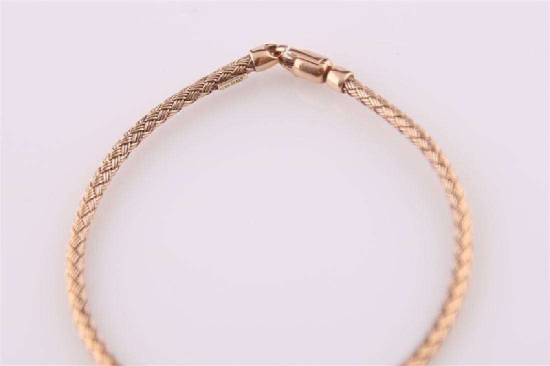 14kt Rose Gold Woven-Style Bracelet - 6