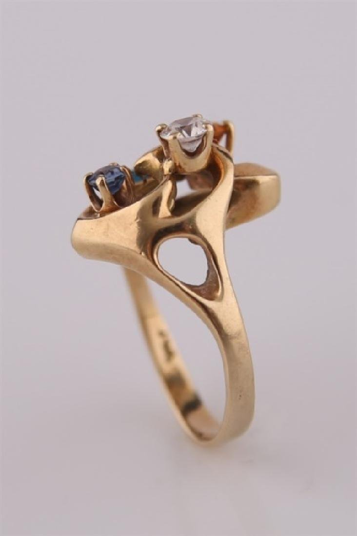 14kt Yellow Gold Mothers Ring - 2