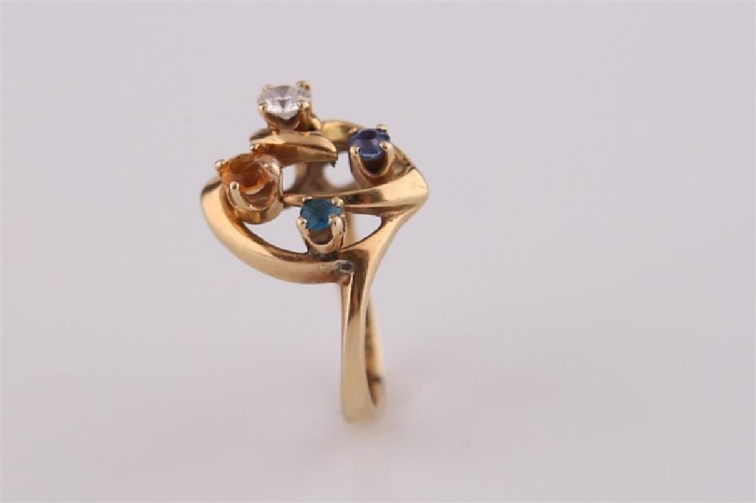 14kt Yellow Gold Mothers Ring - 3