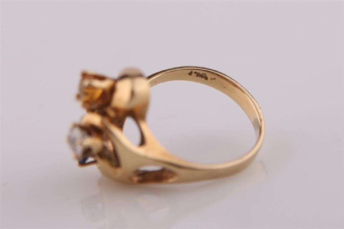 14kt Yellow Gold Mothers Ring - 4