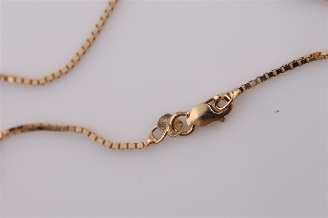 14kt Yellow Gold Necklace with Skeleton Pendant - 2