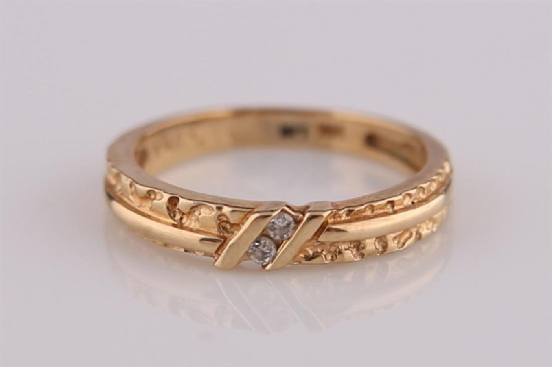 14kt Yellow Gold Ring with Diamonds