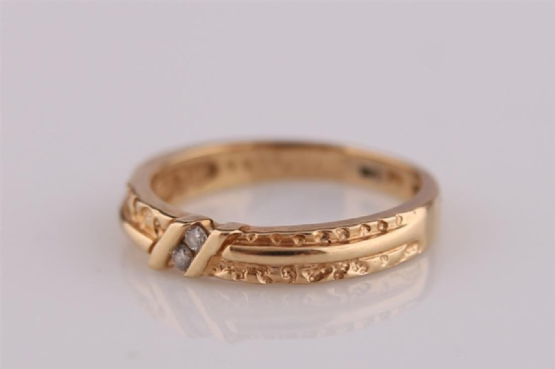 14kt Yellow Gold Ring with Diamonds - 3