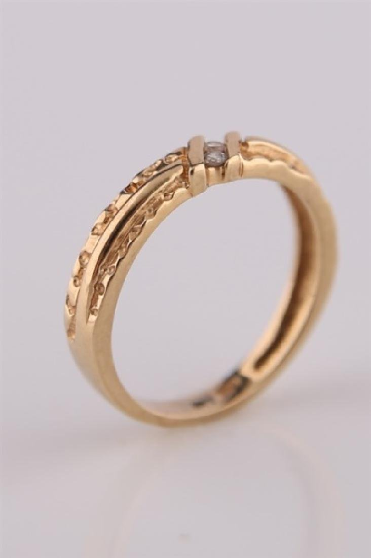 14kt Yellow Gold Ring with Diamonds - 4