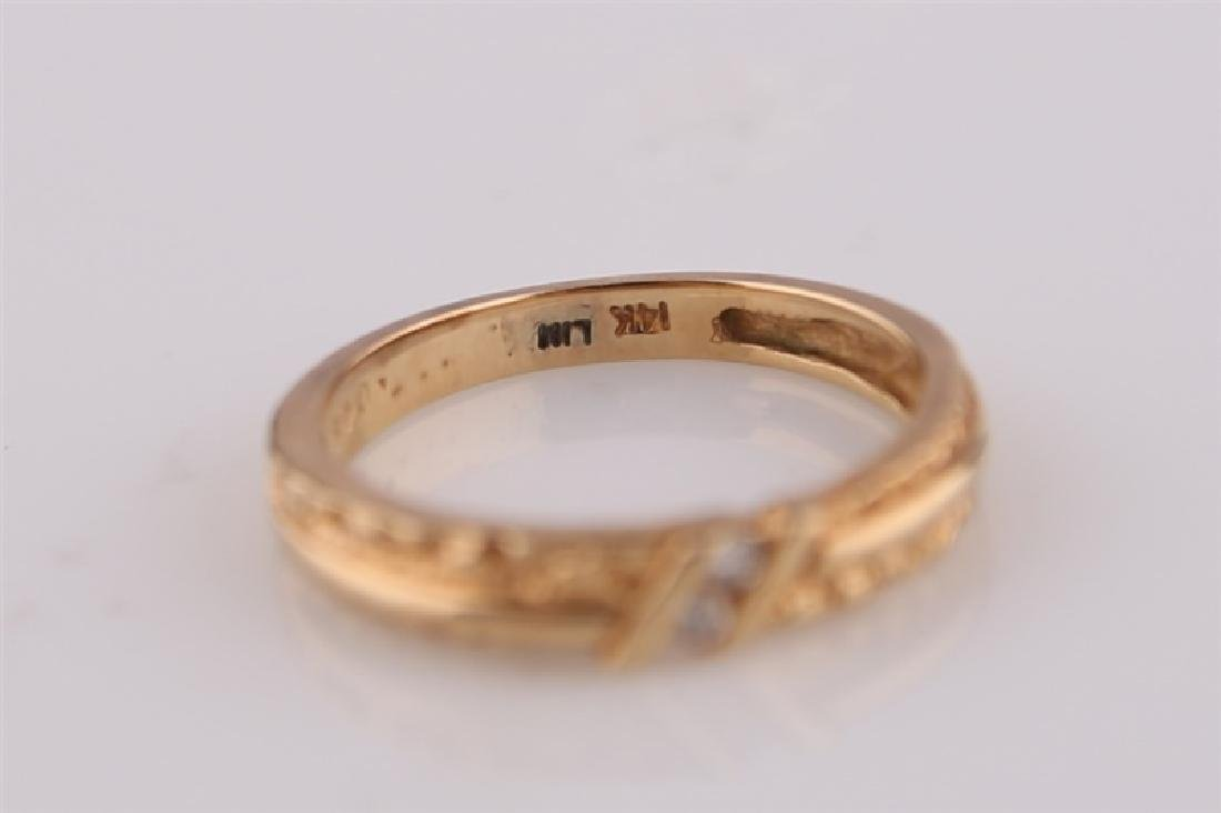 14kt Yellow Gold Ring with Diamonds - 6