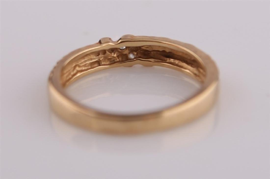14kt Yellow Gold Ring with Diamonds - 7
