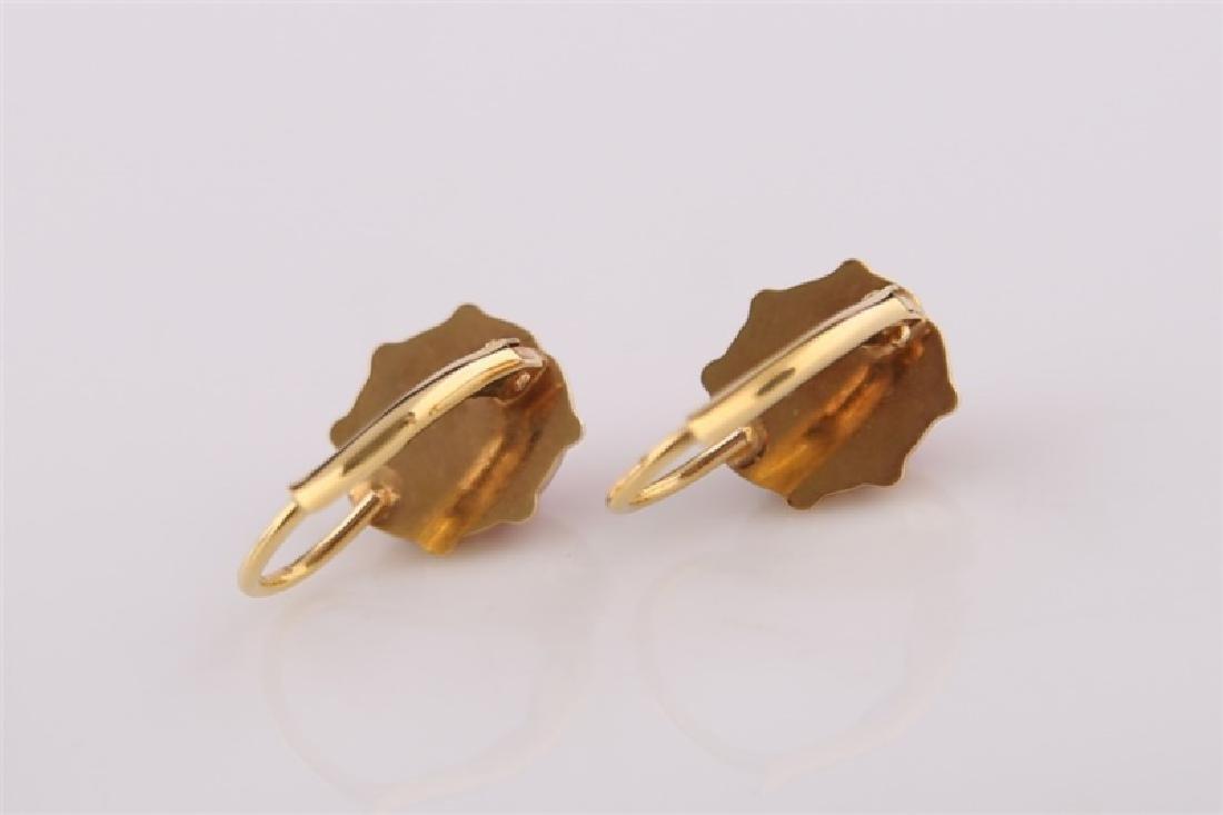 14kt Yellow Gold and Enamel Ladybug Earrings - 2