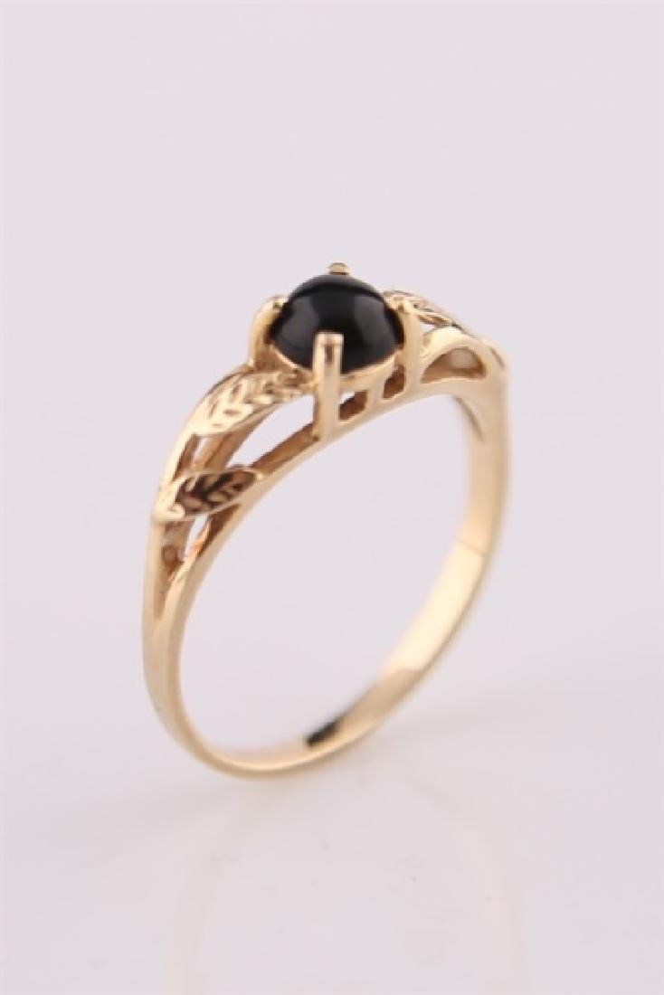 14kt Yellow Gold Ring with Onyx - 2