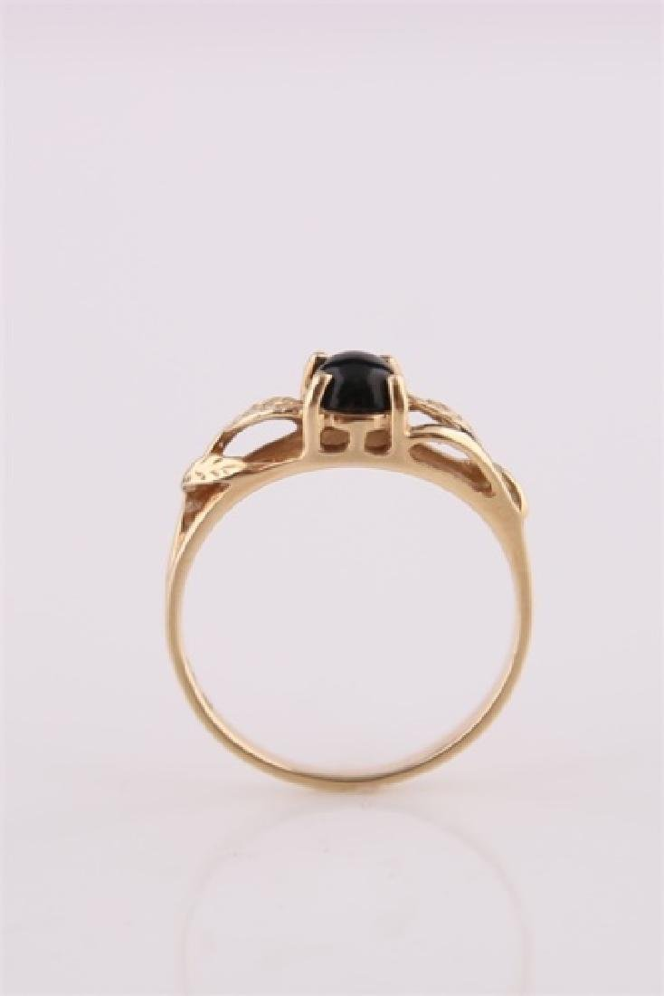 14kt Yellow Gold Ring with Onyx - 3