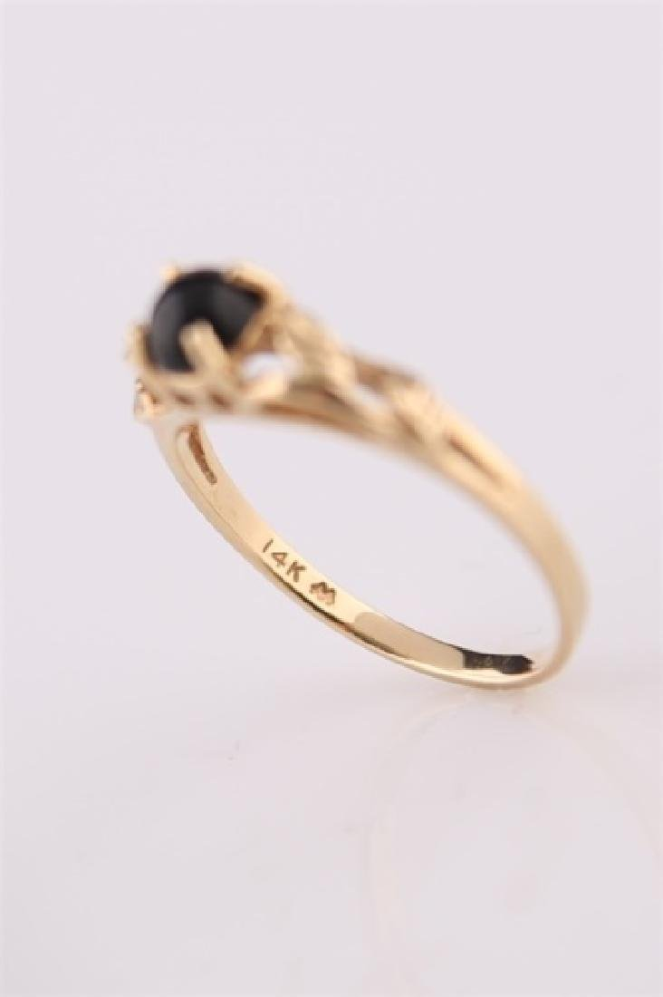 14kt Yellow Gold Ring with Onyx - 4