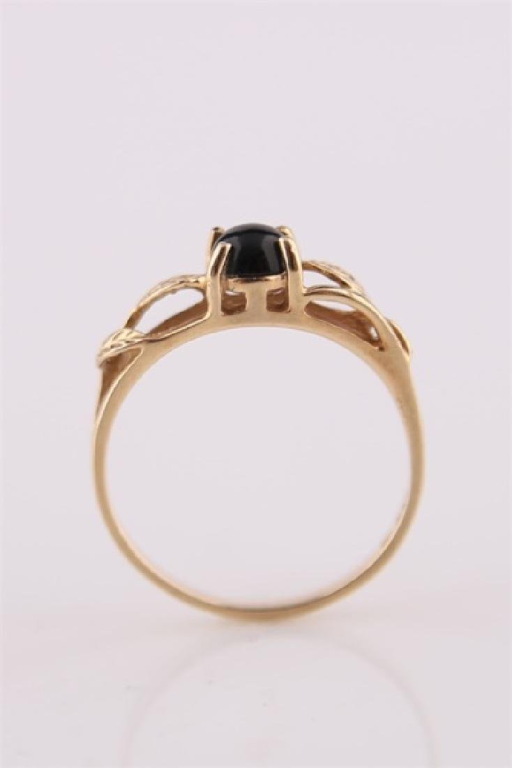 14kt Yellow Gold Ring with Onyx - 6
