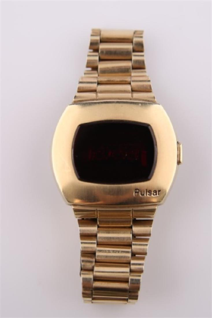 Pulsar P2 LED 14kt Gold-Filled Wrist Watch