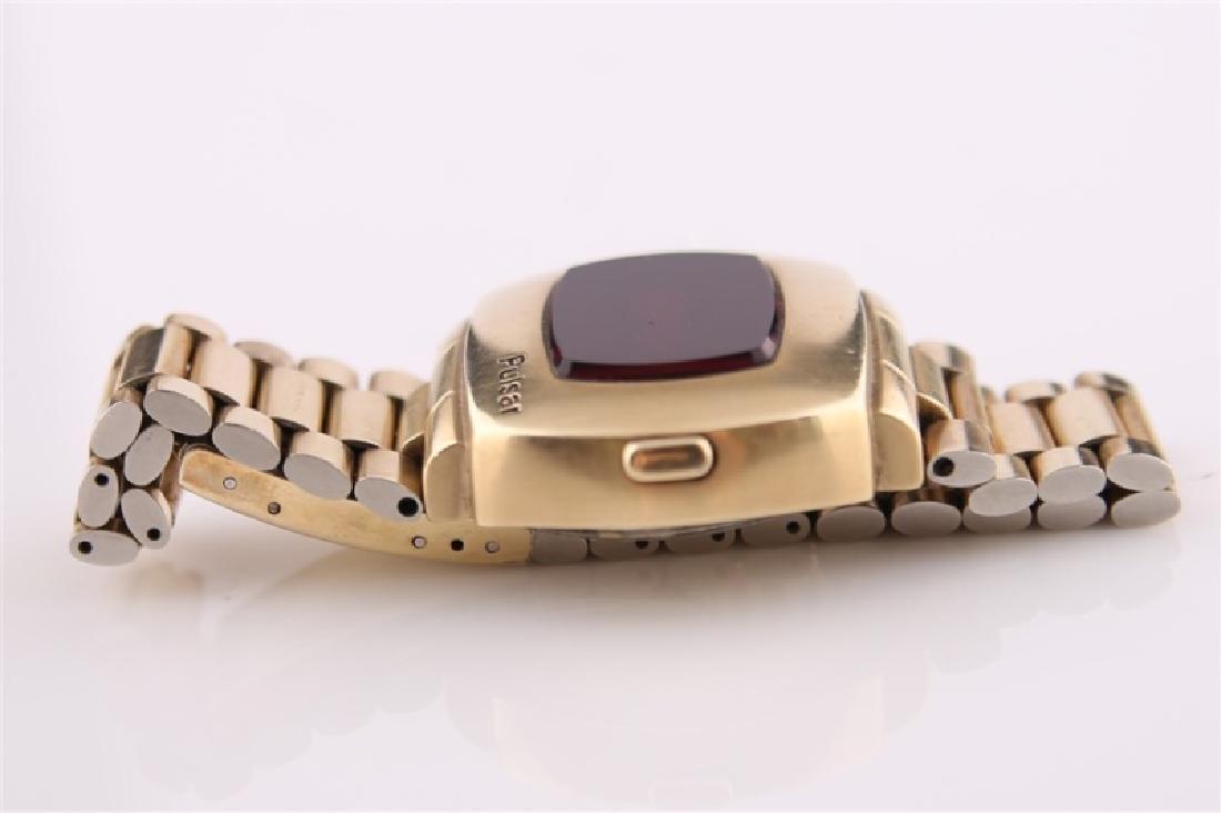 Pulsar P2 LED 14kt Gold-Filled Wrist Watch - 2