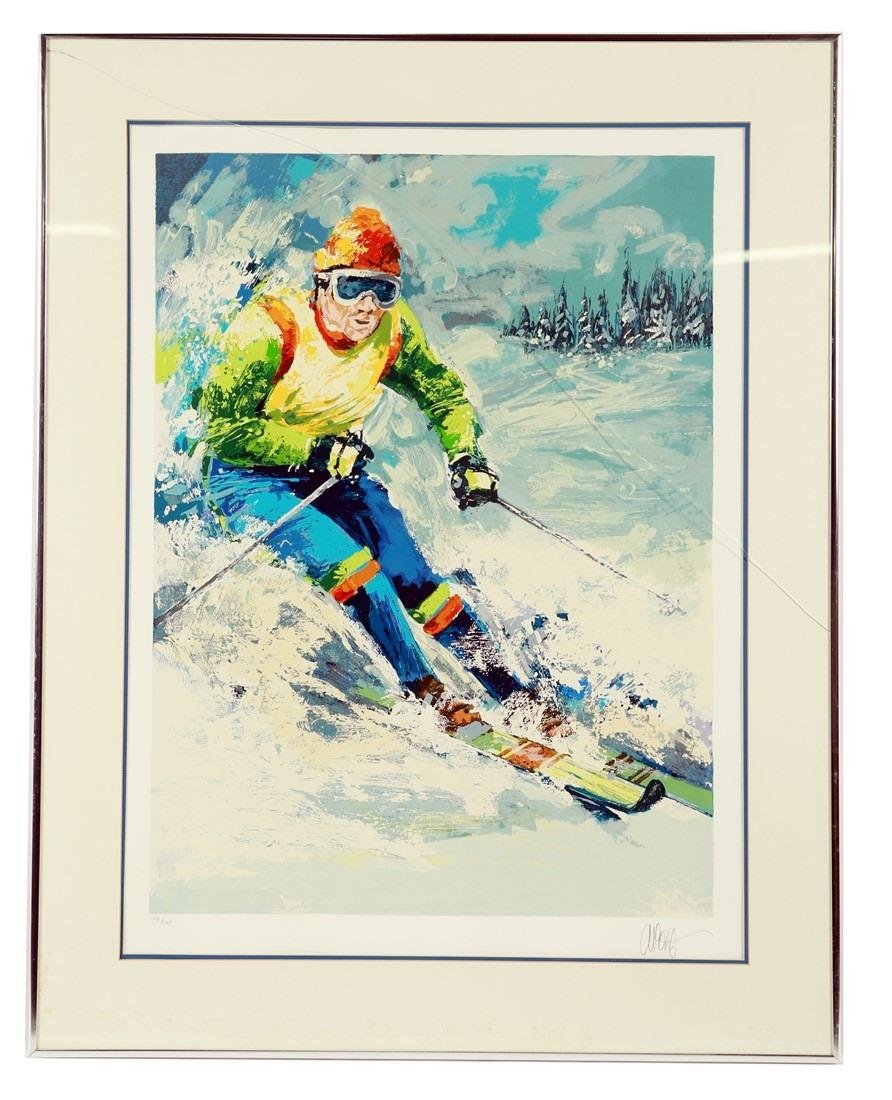 "Wayland Moore (American), ""Skiier I"" Serigraph"