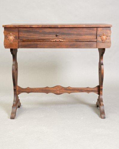 1: Late Victorian Walnut Malodian Desk