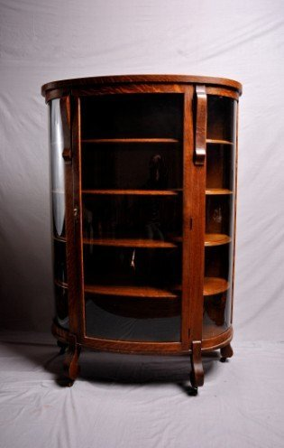 2: Victorian Style Oak and Glazed Cabinet