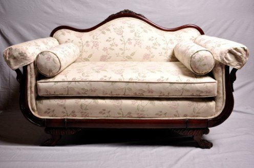 13: Victorian Style Mahogany Settee