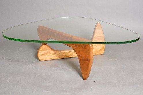 23: Noguchi Birch and Glass Coffee Table