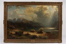 81: Leu, August W., 'Approaching Storm', Oil on Canvas,