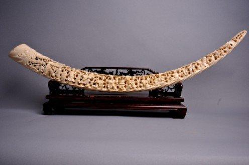 167: Carved Ivory Tusk