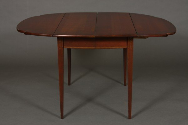9: American Hepplewhite Style Cherry Drop-Leaf Table
