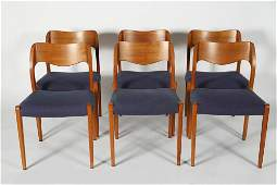 Niels Moller, Set 6 Model 71 Dining Chairs