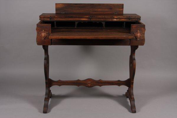 "2: Late Victorian Walnut Malodian Desk, 32"" high, 36"" w"