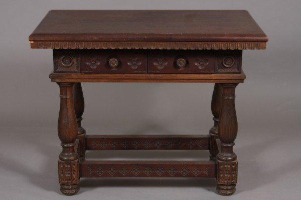 4: Jacobean Style Walnut Table, 20th Century