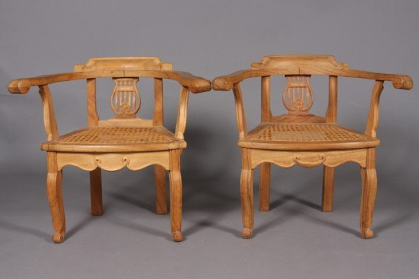 6: George III Style Walnut Children's Chairs, Possibly