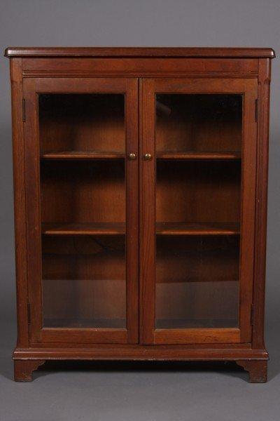 9: Georgian Style Walnut Cabinet, 20th Century