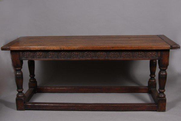 15: Jacobean Style Oak Table, 20th Century