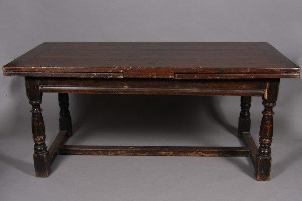 21: Jacobean Style Oak Refectory Table, 20th Century