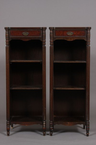 23: Pair of Federal Style Mahogany Shelves, 20th Centur