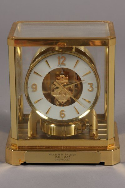"""132: Le Coultre Atmos Mantle Clock, 9 1/4"""" H., Switzerl"""