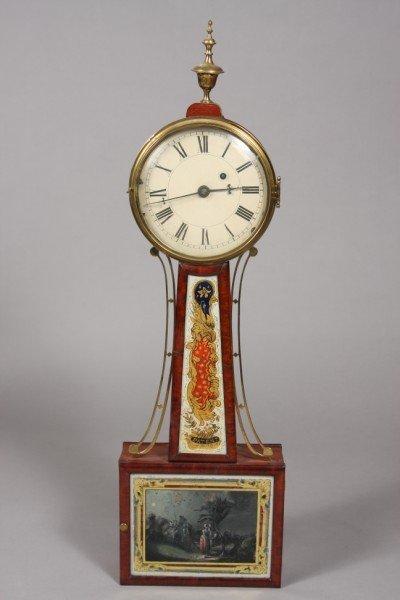 133: American Federal Mahogany Banjo Clock, 2nd Quarter