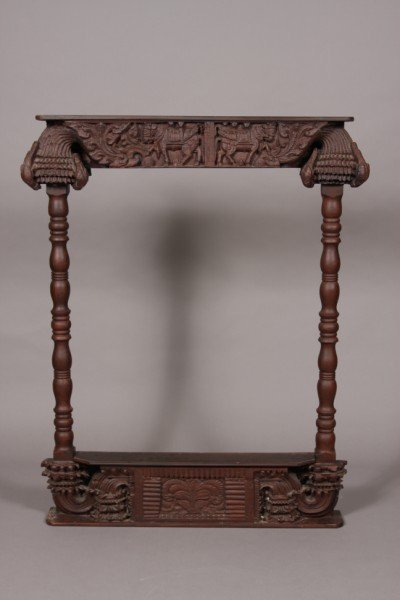 2: Carved Hardwood Frame, Indian, 20th Century