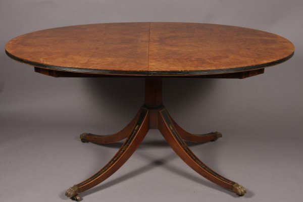 3: Edwardian Style Burl and Satin Wood Breakfast Table,