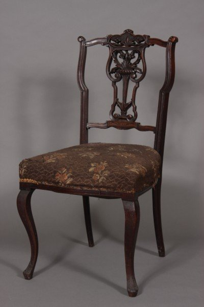 10: Victorian Mahogany Music Chair, American, 20th Cent