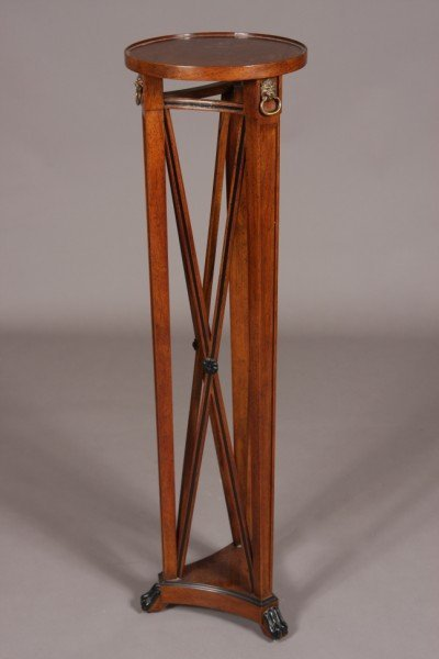23: Regency Style Walnut Finished Stand, American, 20th