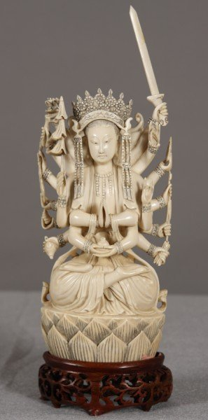 288: Carved Ivory Figural Group, Chinese, Early 20th Ce