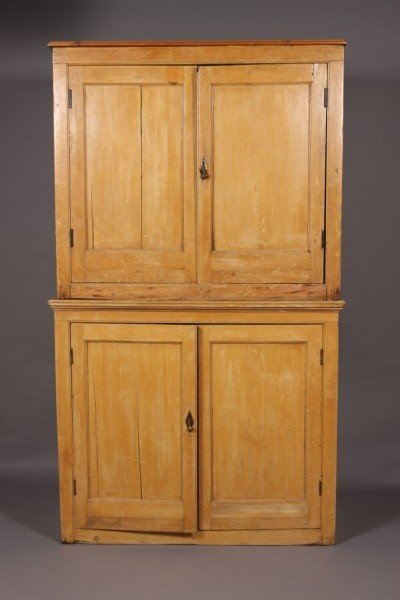 11: Primitive Painted Pine Cupboard, Continental, 19th