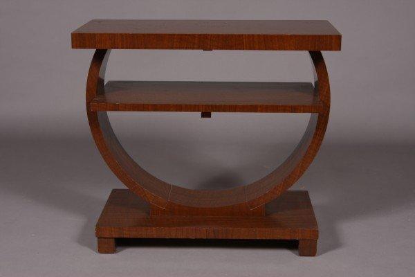 18: Art Deco Style Walnut Side Table, American, 20th Ce
