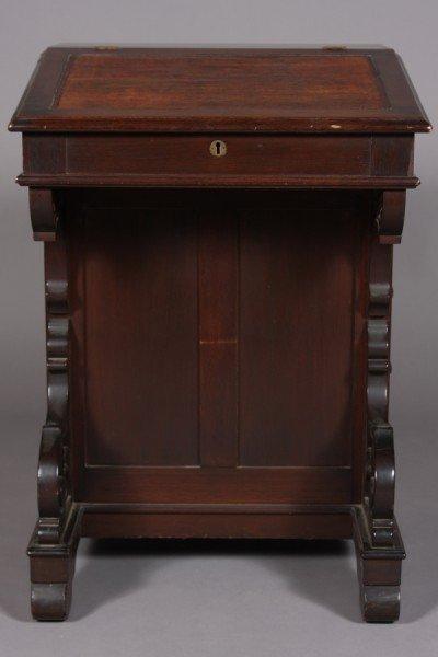 22: Victorian Mahogany Davenport Desk, American, Late 1