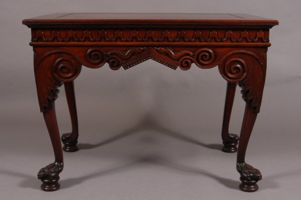 23: George II Style Mahogany Table, American, 20th Cent