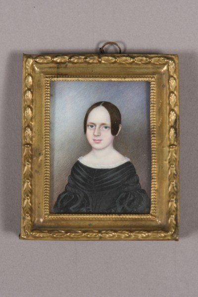147: Portrait Miniature on Ivory, English, 19th C., You