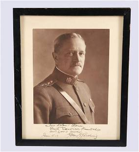 Signed John J. Pershing Photograph to Leland Stowe