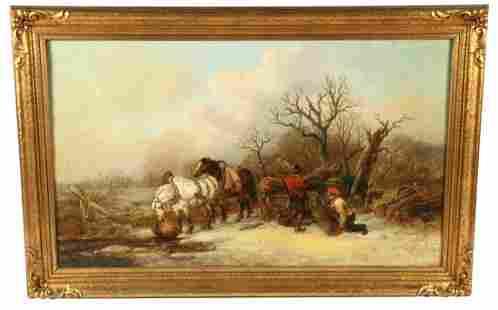 Alexis De Leeuw (Belgian), 1887 Oil on Canvas
