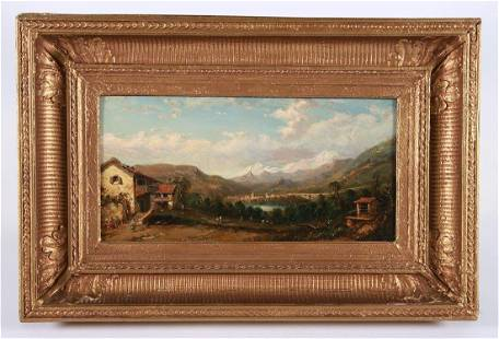 """Attributed to """"Donin"""", Oil on Panel Landscape"""