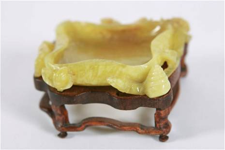 Carved Jade Small Dish