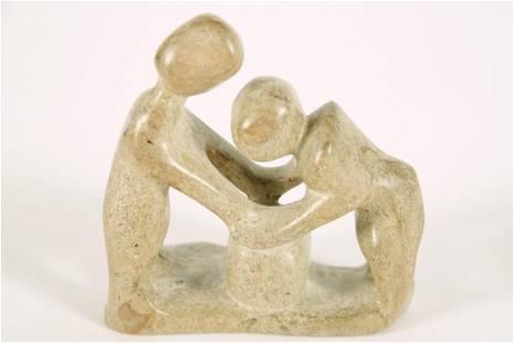 "Stone ""Family"" Figural Sculpture"